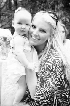 Jessica Simpson and baby Maxwell