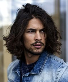 long-haired-male-model-sexy-hairstyle-cool-guys - Guys Long Hair