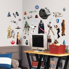 Relive your favorite Star Wars moments in a one-of-kind way with our Star Wars Classics wall decals!