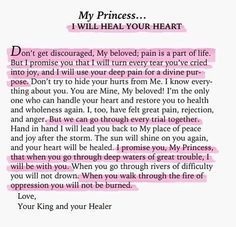 His Princess: Love Letters from Your King - Sheri Rose Shepherd (It's Never Too Late) Faith Quotes, Bible Quotes, Bible Verses, Jesus Quotes, Gods Princess, Princess Sayings, Jesus Christus, Never Too Late, Lord And Savior
