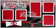 BLJ Graves Studio: ConGRADulations School Graduation Scrapbook Page Kits #scrapbookkits