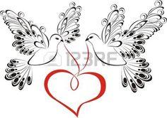 25 imgenes fascinantes de siluetas de palomas  Paper Flowers Acrylic art y Cloth flowers