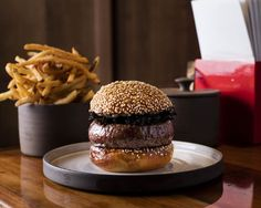 The Salvation Burger, seen here with Hen of the Woods mushrooms and smoky blue cheese.