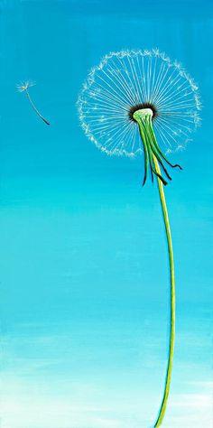 Dandelion Print By David Junod [dandelion, Taraxacum officinale, Asteraceae]