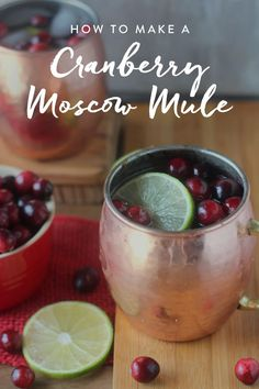 This Cranberry Moscow Mule Recipe Is the Best Thing to Happen to Winter via @PureWow
