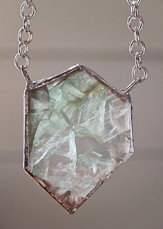 Green Fluorite Hexagon Necklace by MelissaSchulzJewelry on Etsy $50.00  www.etsy.com/shop/MelissaSchulzJewelry