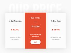 Hi Friends,  Welcome to daily UI challenge for 100 days. This is day 006  Today's challenge is to create a 'Price table'.  Press 'L' to show your love.   You can also download the free sketch sourc...