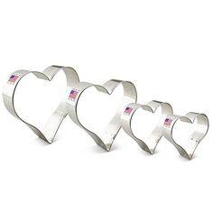 """Ann Clark Heart Cookie Cutter Set - 4 Piece - 2 5/8"""", 3 1..."""