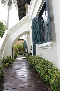 French colonial design at Villa Maly Boutique Hotel in Luang Prabang