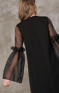 Платье прямого силуэта с пышными рукавами из органзы TOP20 Studio / 2000000189543-3