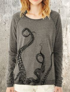 Women's Pullover Sweater Octopus Tentacles by CrawlspaceStudios