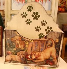 Painting Words, Fabric Painting, Painting On Wood, Painting Patterns, Decoupage Box, Colouring Pics, Country Paintings, Craft Box, Wood Crafts