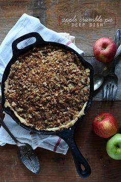 Deep Dish Apple Crumble Pie | via minimalistbaker.com
