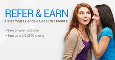 For each friend you refer that successfully registers & posts a valid buying request, you'll receive US $30 order credits & your friend will receive US $20 too!