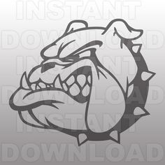 Bulldog Mascot SVG File-Cutting File-Clip Art for by sammo on Etsy