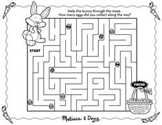 Easter Bunny Maze Printable