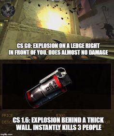 CS1.6 vs CSGO grenade