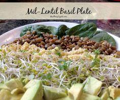 Eat Clean Recipe by GrabbingLapels.com - Mil-Lentil Basil Plate. Yum!