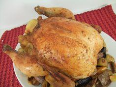 Sticky roast chicken