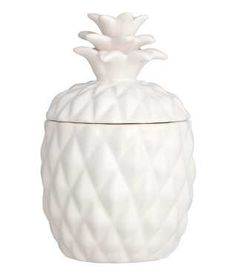 Large Candle in Ceramic Holder night stand