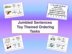Jumbled Sentences - Whiteboard Presentations & Cut & Stick Activities...