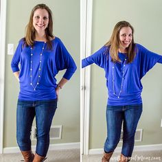 Stitch Fix Review: Queensland Dolman Jersey Top. Love this one! The color is bright and fun and will work with lots of different accessories. It's comfortable to wear at home with the kids, and easily dressed up for church or a date night. Kept it!