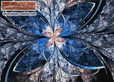 Elliptic butterfly fractal cross stitch kit | Yiotas XStitch