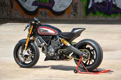 Perfect! Ducati Scrambler Cafe Racer by WalzWerk Racing #motorcycles #caferacer #motos | caferacerpasion.com