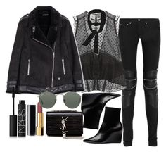 """Sem título #5174"" by lguimaraes ❤ liked on Polyvore featuring Yves Saint Laurent, Isabel Marant, Balenciaga, Zara, Chanel, NARS Cosmetics and Ray-Ban"