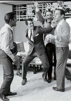 The Rat Pack - Sammy Davis, Jr., Dean Martin, Frank Sinatra, Peter Lawford