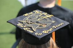 "I love this! Hunger Games graduation cap:  ""May the odds be ever in your favor.""  Photo courtesy of UNO Photographer, Tim Fitzgerald."
