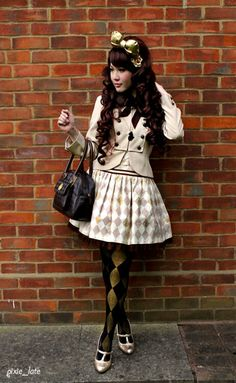 simple fall lolita look Harajuku Fashion, Kawaii Fashion, Cute Fashion, Asian Fashion, Look Fashion, Fashion Outfits, Fashion Design, Fall Fashion, Fashion Trends
