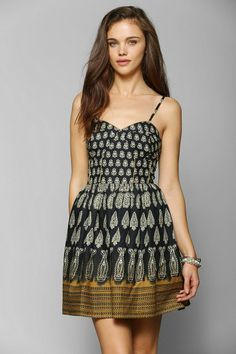 Band Of Gypsies Paisley Fit & Flare Dress #urbanoutfitters