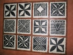 These patterns painted into the table. tattoos for women tattoos flower tattoos meanings tattoos traditional Polynesian Designs, Polynesian Art, Fijian Tattoo, Tongan Tattoo, Thai Tattoo, Maori Tattoos, Tribal Tattoos, Tapas, Samoan Patterns