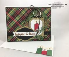 Stamps-N-Lingers.  I made this elegant Christmas Card with the Seasonal Lantern stamp set and bundled Lantern Builder Frameltis, all layered over some gorgeous plaid paper from Christmas Around the World.  For free instructions and a video tutorial, please visit my blog at: https://stampsnlingers.com/2017/10/02/stampin-up-christmas-seasonal-lantern-on-plaid/