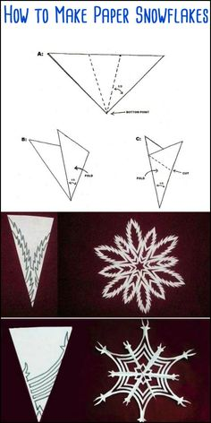 Get the kids to decorate your Christmas tree by making these beautiful DIY paper snowflakes! Get the kids to decorate your Christmas tree by making these beautiful DIY paper snowflakes! Paper Snowflake Template, Paper Snowflake Patterns, Snowflake Craft, Paper Snowflakes, Paper Patterns, Diy Christmas Snowflakes, Origami Christmas Tree, Christmas Crafts, Xmas