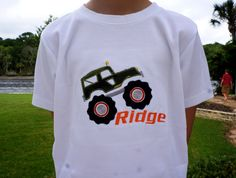 Boys Camo Jeep Applique Shirt w/ Name by PalmValleyKids on Etsy, $19.95
