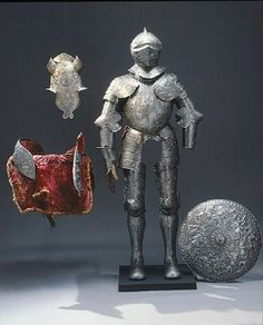 Courtesy of The Royal Armoury (http://emuseumplus.lsh.se/eMuseumPlus). The suit of armour of Eric XIV, made for a triumphal procession during the Nordic Seven Years' War (1561-1568) and is covered with mythological pictures
