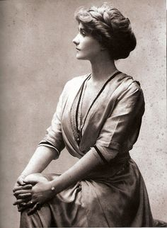 Edwardian...her hair and poise is so dignified:)