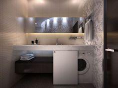 Ideas Bathroom Storage Washing Machine Small Laundry Rooms For 2019 Bathroom Sink Units, Bathroom Shelves, Bathroom Cabinets, Bathroom Furniture, Bathroom Interior, Bathroom Storage, Sink Shelf, Design Bathroom, Bathroom Styling