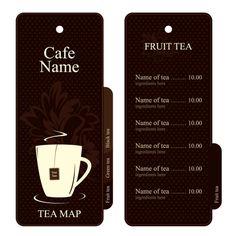 喫茶店のメニュー テンプレート cafe menu vector