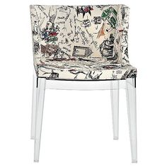 Kartell Mademoiselle Chair Moschino Sketches ($1,000) ❤ liked on Polyvore featuring home, furniture, chairs, accent chairs, black, patterned armchair, patterned accent chairs, black armchair, italian furniture and kartell furniture