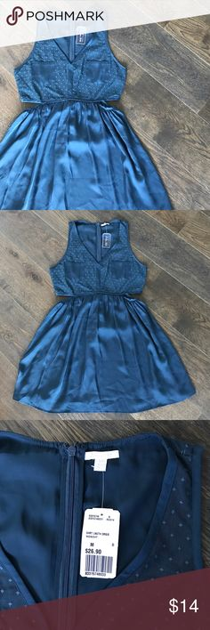 B L U E • D R E S S NWT • I Love H81 line • silky • dress • with peek-a-boo sides • no trades • comment with questions Forever 21 Dresses
