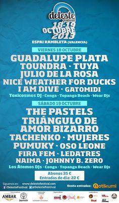 Ya llega el Deleste Festival 2013 a La Rambleta en Valencia