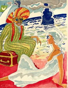 La Montagne des Nuages/One Thousand & One Nights Illustrated by Kees van Donegen  ~Repinned Via CarambasVintage