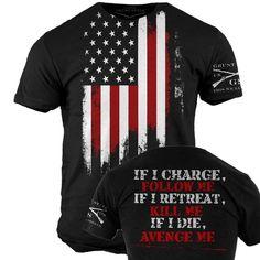 Avenge Me T-Shirt - Grunt Style Military Men's Black Graphic Tee Shirt #GruntStyle #GraphicTee