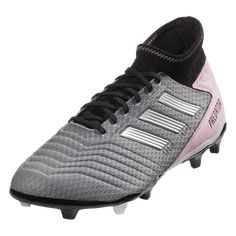 adidas Predator 19.3 FG Women s Firm Ground Soccer Cleat Black Grey Pink-9.5 dd75b570a74