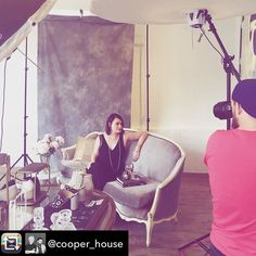 Photo shoot fun this morning with @charlien.photo and @cooper_house! Thank you both so so much! Happy Saturday kids.  Repost from @cooper_house using @RepostRegramApp - Art directing early morning shoot with @charlien.photo