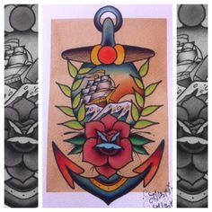 Traditional tattoo flash by Darin Blank. @darinblanktattoos #tattoo #traditional #traditionaltattoo