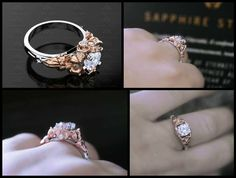 Prisme-Sailor Moon blanc/jaune/or rose Sailor Moon Wedding, Saphire Ring, Saphir Rose, Swarovski, Sapphire Jewelry, Dress Rings, Pink Sapphire, Natural Diamonds, Natural Opal